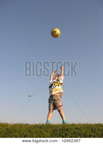 boy throw ball