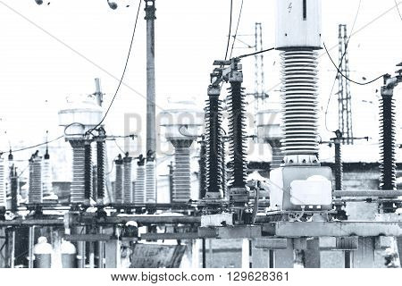 High voltage electric power. Structure power station