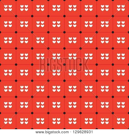 White Hearts Seamless Pattern Vector Illustration. EPS 10