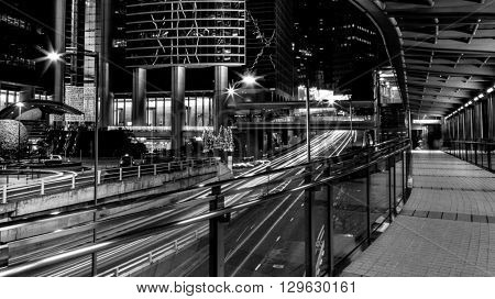 Fine art photography of Hong Kong city in contrast black and white edition