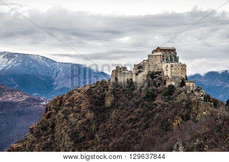 Sacra di San Michele abbey - val susa Avigliana - Turin - Piemonte Region italy landscape