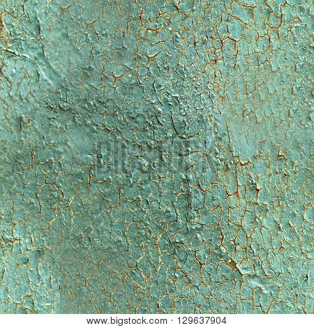 Cracked plaster texture. Old plastering seamless pattern