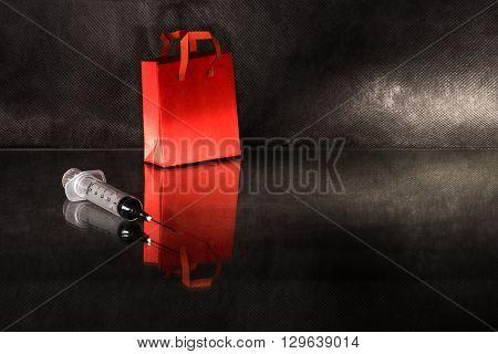 Shopping Bag And Syringe