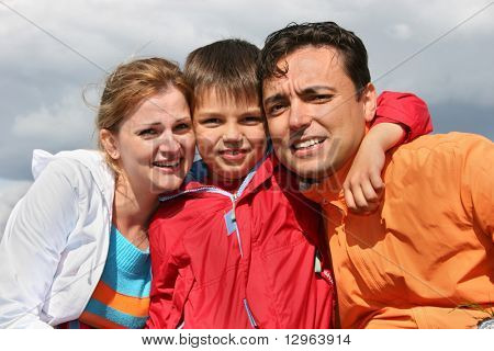 family with boy. faces