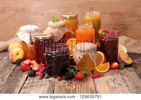 assorted berry fruit jam