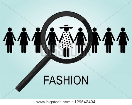 the choice of a number of black female silhouettes, one in a polka-dot dress and hat