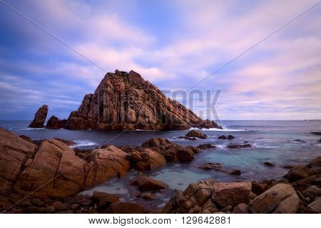 Sugarloaf Rock in the south west of Western Australia.