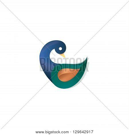 Duck modern logo vector illustration design on a white background art