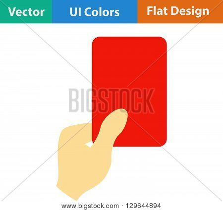 Icon Of Football Referee Hand With Red Card