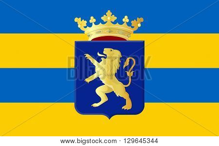 Flag of Leeuwarden is a city in the Netherlands. It is the capital city of the province of Friesland and situated in the northern part of the country.