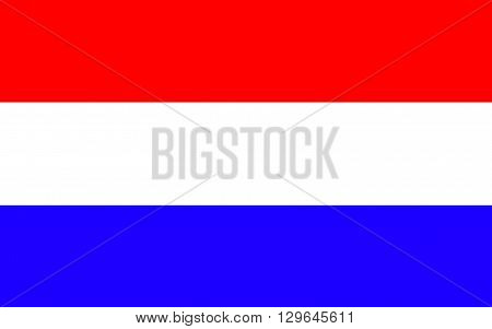 Flag of Netherlands is the main constituent country of the Kingdom of the Netherlands. It is a small densely populated country located in Western Europe with three island territories in the Caribbean
