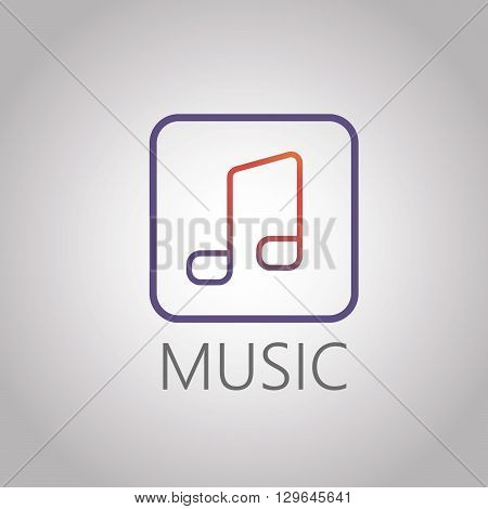 Abstract music, note icon logo design in modern style. Vectoe EPS 10