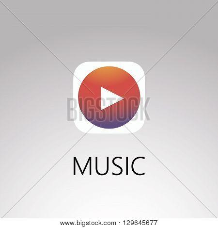 Double Triangle Media Play Logo Vector EPS 10