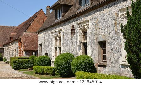 Varengeville sur Mer France - july 16 2015 : the Ango manor built between 1530 and 1545 for Jean Ango the Dieppe governor