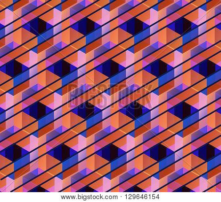 Vector hexagons background. Geometric pattern. Retro geometric hexagon backdrop. Polygonal unusual comb texture. Textured design elements. Eps10