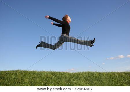 Springen Mädchen