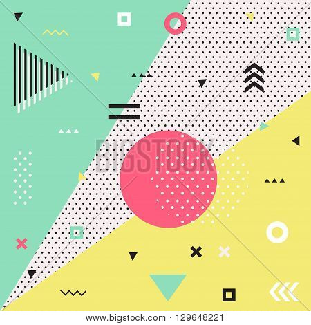 Retro style texture, pattern and geometric elements. Modern abstract design poster, cover, card design.