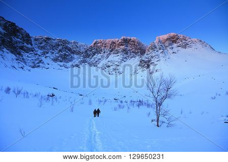 early morning in Khibiny mountains. Northen Russia