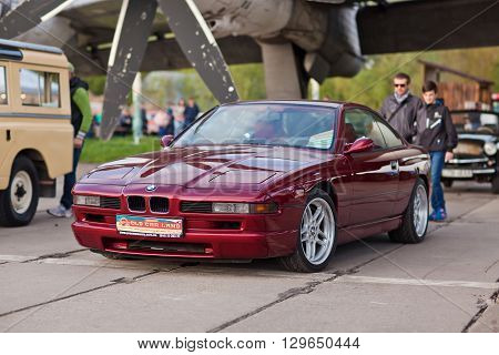 KYIV, UKRAINE - April 22, 2016: Car BMW 850 at festival of vintage cars OldCarLand-2016 in Kiev.
