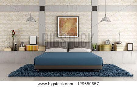 Contemporary Bedroom In A Loft