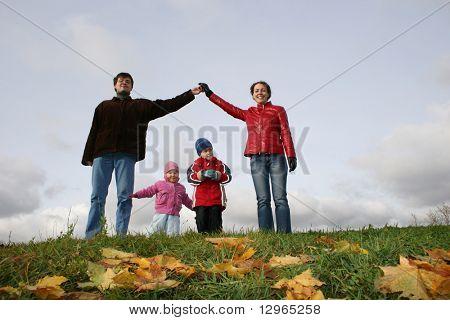 Kinder im Haus. Herbst