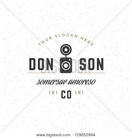 Photographer Logo Template. Vector Design Element Vintage Style for Logotype, Label, Badge, Emblem. Photography Logo, Photo Camera Logo, Photo Studio Logo, Photo Camera Icon, Camera Logo, Logo Vector.