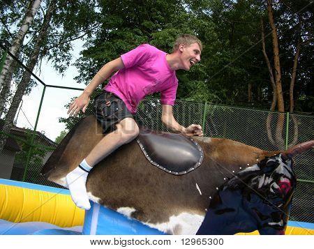 boy on bull simulator