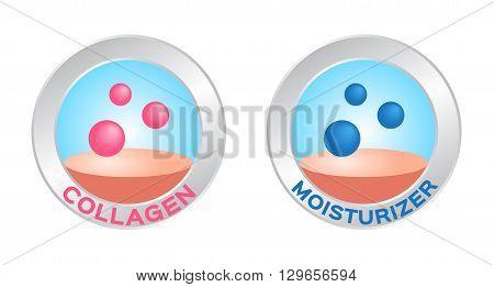 collagen logo on white background , 2 versions