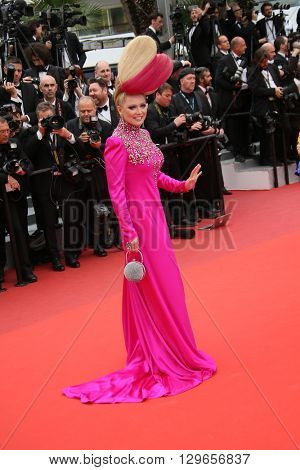 Elena Lenina attends the 'Slack Bay (Ma Loute)' premiere during the 69th annual Cannes Film Festival at the Palais des Festivals on May 13, 2016 in Cannes, France.