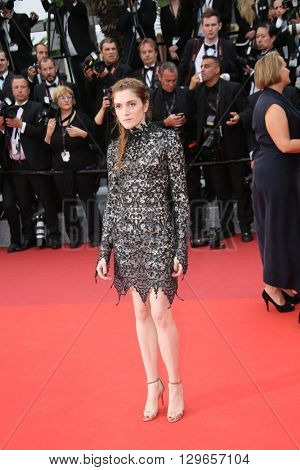 Maud Wyler attends the 'Slack Bay (Ma Loute)' premiere during the 69th annual Cannes Film Festival at the Palais des Festivals on May 13, 2016 in Cannes, France.
