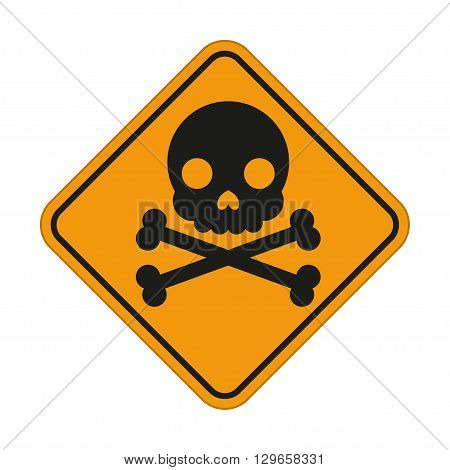 Skull and crossbones symbol danger sign. Vector illustration for your design and presentation