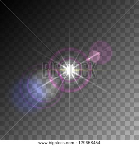 Transparent Lens Flare Vector Element