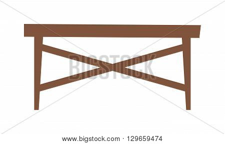 Empty wooden table product placement vector. Wood table design and interior design wood table. Wood table design plank texture and interior empty wood table. Design retro rustic grange table.