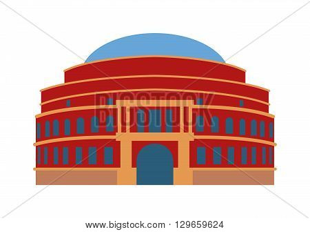Theater building vector illustration. City house urban theater building and university museum theater building. Theater building culture collection government art design. Exterior art construction.