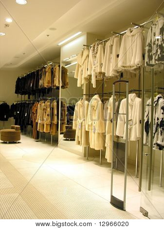 fur in shop