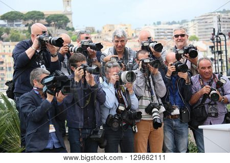 Photographers attends the Jury Un Certain Regard photocall during the 69th annual Cannes Film Festival at the Palais des Festivals on May 13, 2016 in Cannes, France.