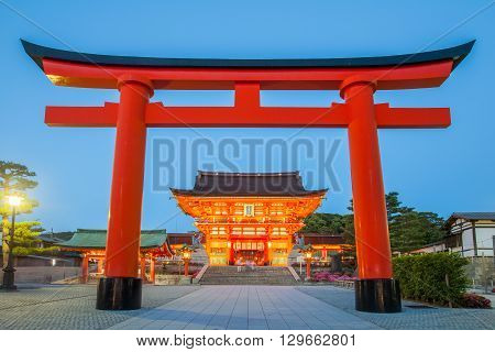 Fushimi Inari Shrine Famous and important Shinto shrine in southern Kyoto Japan