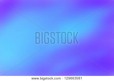 Blue blurred background. Colorful defocused lights. Soft colored gradient backdrop. Abstract blurry vector illustration