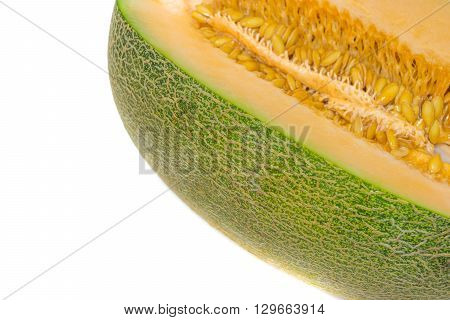 This a photo of Cantaloupe Melon isolated on white background