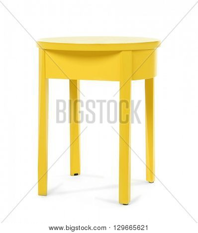 Yellow stool isolated on white