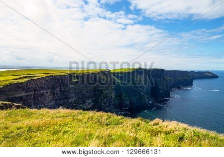 Ireland Calway county the Cliffs of Moher view of the South Cliffs towards Hang Head