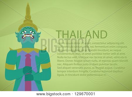 Giant of Thailand. Thailand Travel concept .
