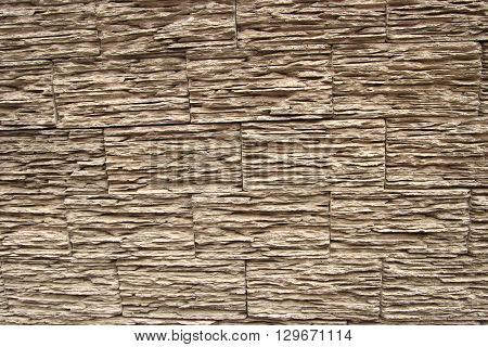 Stone wall texture. Wooden bricks wall pattern