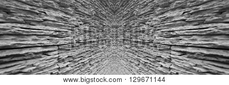 Black and white abstract background perspective view