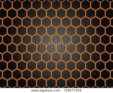 Honeycomb pattern background. Vector Illustration, EPS 10