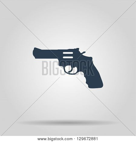 Revolver Icon. Vector concept illustration for design.