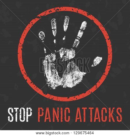 Conceptual vector illustration. problems of humanity. stop panic attacks