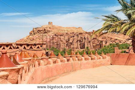 View of ksar Ait Benhaddou, Ait Ben Haddou Kasbah, Ouarzazate, Morocco