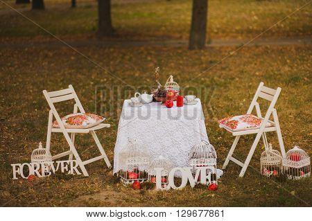 Beautiful Photobooth In Autumn City Park