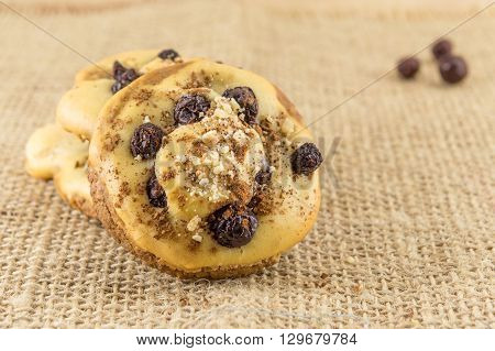 Homemade Muffins With Aronia And Cranberries